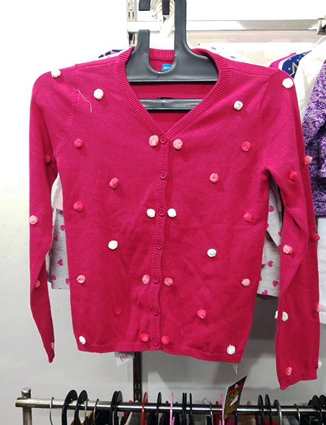 Girls Red Dark Sweater