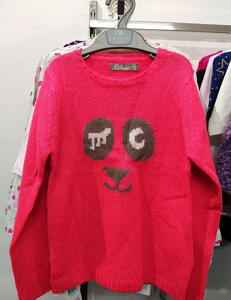 Girls Red Sweater
