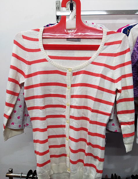 Women Stripe Pattern Sweater