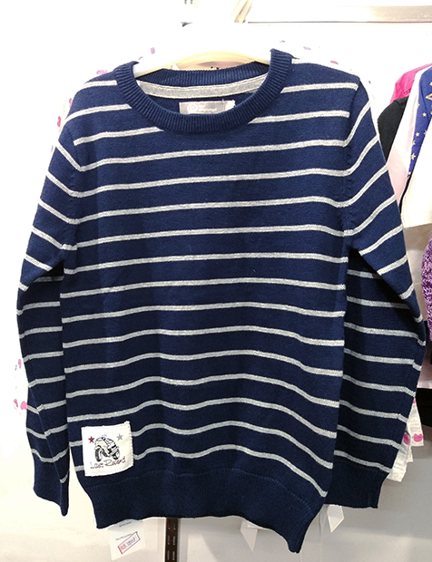 Women Stripe Sweater Blue